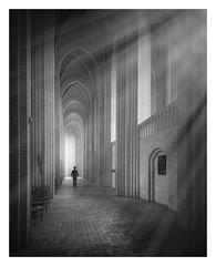 Holiness II (Vesa Pihanurmi) Tags: grundtvigskirke chrurh aisle copenhagen bispebjerg denmark architecture interior expressionism gothic bricks brickexpressionism character figure lightrays rays