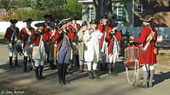 Pipe Band of Redcoats (Row 17) Tags: usa virginia williamsburg 18thcentury military uniform uniforms reenactment reenactor reenactors band bands army red redcoats people