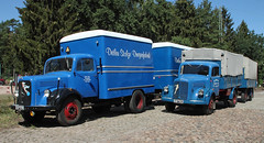 L311's (Schwanzus_Longus) Tags: eystrup german germany old classic vintage vehicle truck lorry mercedes benz l311 l 311 box flatbed trailer