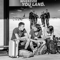 wherever you wait (every pixel counts) Tags: 2018 airport advertising txl everypixelcounts blackandwhite 11 germany berlin europa people street square city capital bw waiting eating blackwhite luggage tegel eu tourist berlinalive day