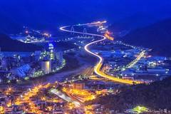Car-trail~ Nightview~Yilan~ 蘇花改車軌 (Estrella Chuang 心星) Tags: 夜景 車軌 宜蘭 蘇花改 心星 estrella nightview yilan cartrail