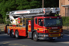 DSC_8673 (matthewleggott) Tags: humberside fire rescue service engine appliance exercise holme hall east riding yorkshire care home yj13goa alp aerial ladder platform scania angloco bronto