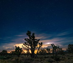Stars and Storms (Geoffrey Hunt Photography) Tags: desert mojave california stars thunderstorm lightning clouds night