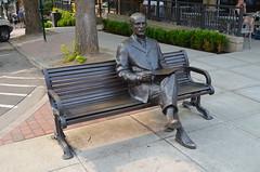 "Bronze Sculptures in Fairhaven - ""J.J.Donovan"" by Bob McDermott (2014) (Neal D) Tags: washington bellingham fairhaven sculpture bronze art streetart bobmcdermott jjdonovan 2014"