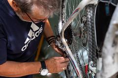 Fix it! (The eclectic Oneironaut) Tags: 2018 6d canon cumplemariano eos españa lagunadecontreras segovia spain castillayleón es bike mechanics