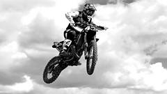 Just Playing With Mono (Obelus2000) Tags: mono fz330 fz300 mx moto motorbike sky blackwhite
