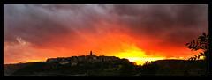Panoramique Puycelsi (Jean-Louis DUMAS) Tags: nature village paysage coucherdesoleil sunrise sunset sun panorama panoramique