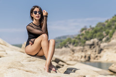 Lucia - 4/5 (Pogdorica) Tags: modelo sesion retrato posado chica pantano lucia bañador
