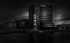 B&W Malmoe (AndreasNikon) Tags: blackandwhite svartvitt malmo malmöe skanecounty sweden sunset sommar sea skyscraper water fyr cityscape bro art architecture d600 50mm beautiful ngc
