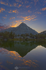Zoe's Dawn (Brian Knott Photography) Tags: mtmorgan mountmorgan gemlakes littlelakesvalley johnmuirwilderness california sierra lake reflection mountain mountains sunrise dawn dusk sunset cloudy clouds