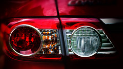 IF You Can See This, You're Too Clo ........... (Bob's Digital Eye) Tags: abstract bobsdigitaleye canon canonefs55250mmf456isstm closeup depthoffield flicker flickr july2018 lightcluster lights red t3i rim automobile brakelight