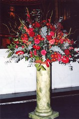London.  February 18th. 2004 (Cynthia of Harborough) Tags: 2004 chapels flowers pedestals