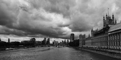 London Stormy Skies. (jlnurse100) Tags: river london westminster bridge houses parliament city clouds storm sky water skyline building skyscraper boat