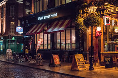 Fleet Street (mickreynolds) Tags: dublin nx500 nightphotography night cobbles ireland hotel street photography pub harry clarke stained glass temple bar
