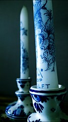Nothing will change (Michschnei) Tags: dark obscure black white blue candle conceptual aesthetic thoughts shadow shadows nothing will change life word words indie gothic feelings