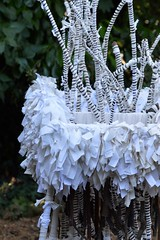 chariot becoming (Danny W. Mansmith) Tags: operanavale fiercefemmesecondsaturdays mtbakerartistlofts seattle artinstallation handmade oneofakind sculpture nature treebranches foundshoppingcart reuse art dannymansmith alexisortiz wrapping knots fabric mixedmedia august2018 chariotbecoming