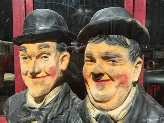 Laurel and Hardy visiting the oldest Cinema Café in Berlin