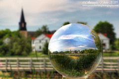 View in a Ball (sminky_pinky100 (In and Out)) Tags: lensball lensballphotography crystalball glassball refraction sackvillewaterfowlpark scenic abstract newbrunswick atlanticcanada park maritimeprovinces atlanticprovinces spire church travel tourism outdoors walkingtrail omot cans2s canada