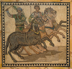 Charioteers (tommyajohansson) Tags: madrid españa spain spanien semester ferie vacances weekendbreak urlaub tommyajohansson geotagged musem archeologicalmuseum mosaic mosaics mosaik romanmosaic romerskmosaik