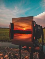 """Reflected Sunset in an Azure Sky"" (ibtihajtafheem) Tags: reflection reflections lens lensflare reflect canon canon1200d canoneos1200d canoneos canonlens canonofficial canonphotography canonlove canon1855mm 1855mm 18mm nd8 ndfilter nd10 cloudsky cloud cloudearth clouds cloudporn cloudy sky earthcolors earthpix earth travelearth travel travelphotography sunrise sunriseporn sunset sunsets sunsetphotography naturelover naturephotography natureporn nature natural bangladesh bangladeshi dhaka nawabganj village rural ruralsky"