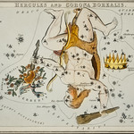 Sidney Hall's (1831) astronomical chart illustration of the Hercules and the Corona Borealis. Original from Library of Congress. Digitally enhanced by rawpixel. thumbnail