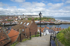Whitby (Keartona) Tags: whitby town northyorkshire yorkshire coast harbour steps view england english houses tourism sea spring day landscape