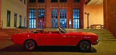 1967 Ford Mustang Convertible 289 V8 - by night - (Jac Hardyy) Tags: 1967 ford mustang convertible 289 v8 cabrio cabriolet by night car cars oldtimer old classic antique auto autos red rot