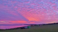 Sunrise, Pembrokeshire, Wales (east med wanderer) Tags: uk wales pembrokeshire sunrise clouds coast camping westhookfarm sea marloes