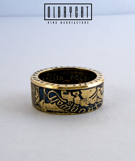 Knights in Battle handmade coin ring signet