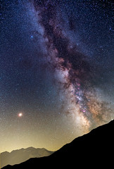 MilkyWay and Mars over the Alps (Pegaso0970) Tags: milkyway mars sestriere col basset italy alps