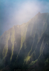 Soft Erosion (Michael Carl) Tags: kauai northshore napali rugged coast cloud mountain gold light landscape michaelcarlphotography