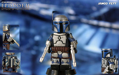 Custom LEGO Star Wars: Attack of the Clones | Jango Fett (LegoMatic9) Tags: custom lego star wars episode 2 attack clones jango fett minifigure boba clone troopers kamino