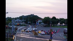Kaohsiung Expressway Intersection at Sunset (do_japan) Tags: intersection traffic transportation road kaohsiung taiwan expressway highway cars motorcycles scooters trains sunset asia time lapse