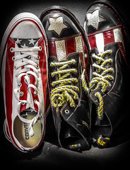 Converse vs Dr Martens. (CWhatPhotos) Tags: cwhatphotos camera photographs photograph pics pictures pic picture image images foto fotos photography artistic that have which contain converse all stars chucks stripes starsandstripes shoes boots usa amereican america product foot wear dm docs versus dr marten congress 7 hole dms martens doc