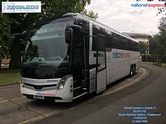 NATIONAL EXPRESS EDWARDS OF LLANWIT FADRE SCANIA CAETANO LEVANTE 3   PARKED AT BU18 OTE ROYAL WELL BUS STATION CHELTENHAM 17082018 (MATT WILLIS VIDEO PRODUCTIONS) Tags: national express edwards of llanwit fadre scania caetano levante 3 parked at bu18 ote royal well bus station cheltenham 17082018