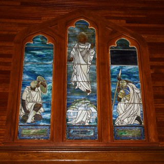 Lake Placid - New York - St Eustace Episcopal Church -  Interior Stain Glass