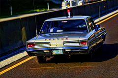 Car 84, Where Are You (raymondclarkeimages) Tags: rci raymondclarkeimages 8one8studios usa canon 6d 70200mm outdoor google yahoo flickr smugmug policecar domelight police oldpolicecar copcar 84 dodge backintheday whipantenna vehicle lawenforcement oldfashioned road traffic dialoperator
