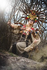 """TEATRONATURA """"Queen's power from the past"""" (valeriafoglia) Tags: creative composition capture colors warrior queen wood wild fantasy forest crown nature model makeup photography photo tribal beautiful beauty earth light stylist outfit"""