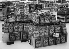 Corn Chips (arbyreed) Tags: arbyreed monochrome bw blackandwhite store retail chips cornchips consumereconomy shopping harmons grocery interior harmonsneighborhoodgrocery display retaildisplay