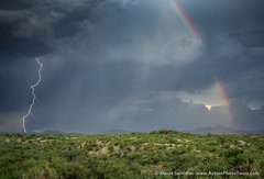 Lightning and Rainbows (David Swindler (ActionPhotoTours.com)) Tags: arizona rainbow stormyskies tucson lightning storm thunderstorm