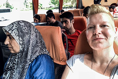 Getting situated (Melissa Maples) Tags: antalya turkey türkiye asia 土耳其 apple iphone iphonex cameraphone spring me melissa maples selfportrait woman busstation otogar travel coach bus headscarf turk