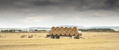 Baleful (stevedewey2000) Tags: wiltshire salisburyplain trailer bales haybale harvest harvesting clouds 2351 mechanical manualfocus homemadelens zeiss ikon talon projectorlens 85mmf28