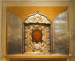 Medieval Icon (battyward) Tags: met medieval art nyc tryptich christ icon heavenly bodies catholic imagination