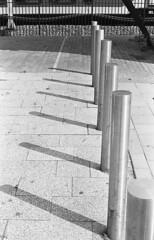 All Shadows (Arne Kuilman) Tags: kosmofoto kosmofotomono iso100 contax zeiss 50mm 50mmf17 slr film homedeveloped pyrocathd 11minutes developed developer amsterdam netherlands nederland paaltjes shadow schaduw sloterdijk path pedestrian stoep