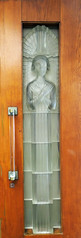 Angel in a door - Glass Church, Jersey (Monceau) Tags: glass panel door angel handle glasschurch renélalique jersey millbrook anglican lalique
