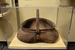 Trenton, NJ - New Jersey State Museum - Clam Gathering Basket (jrozwado) Tags: northamerica usa newjersey trenton museum nativeamerican delaware lenape ethnography anthropology basket clam
