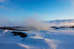 Geysir (rockym93) Tags: geysir geyser geothermal spring steam fog water snow iceland thingvellir