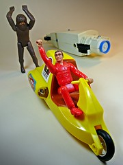 Kenner – Fantastic World of Six Million Dollar Man & Bionic Woman Toys – TTP (Turbo Tower of Power) – Dual Launch Drag Set – Bigfoot Drag Race Bike Restoration – So Long!! (My Toy Museum) Tags: kenner ttp tower power turbo dual launch drag bigfoot race bike restoration