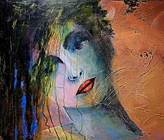 Darmstadt 2018.07.21. Dreaming Lady - Artist ULRIKE KÖNIG (Rainer Pidun) Tags: painting tableau gemälde