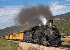 First Silverton Train (jterry618) Tags: 800amsilvertontrain baldwin1925 colorado drgw481 drgw481dsng481 denverriograndewestern durangosilvertonnarrowgaugerailroad hermosa k36282 durango unitedstates us